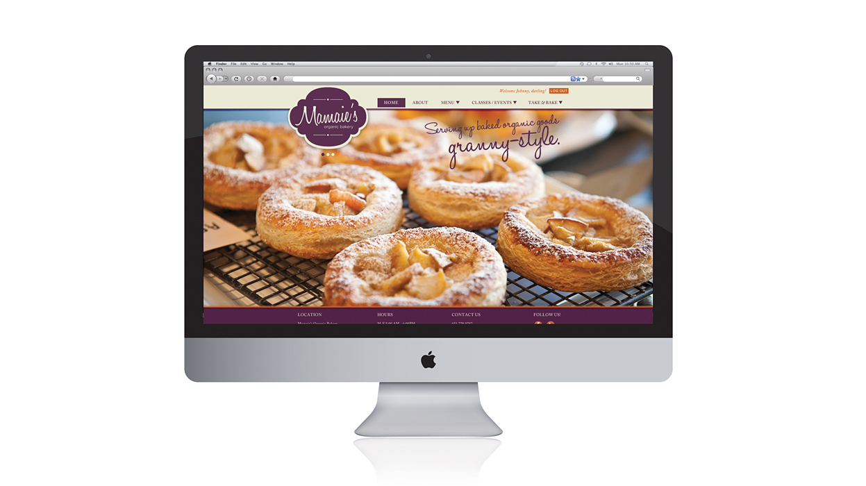mamaie organic bakery website