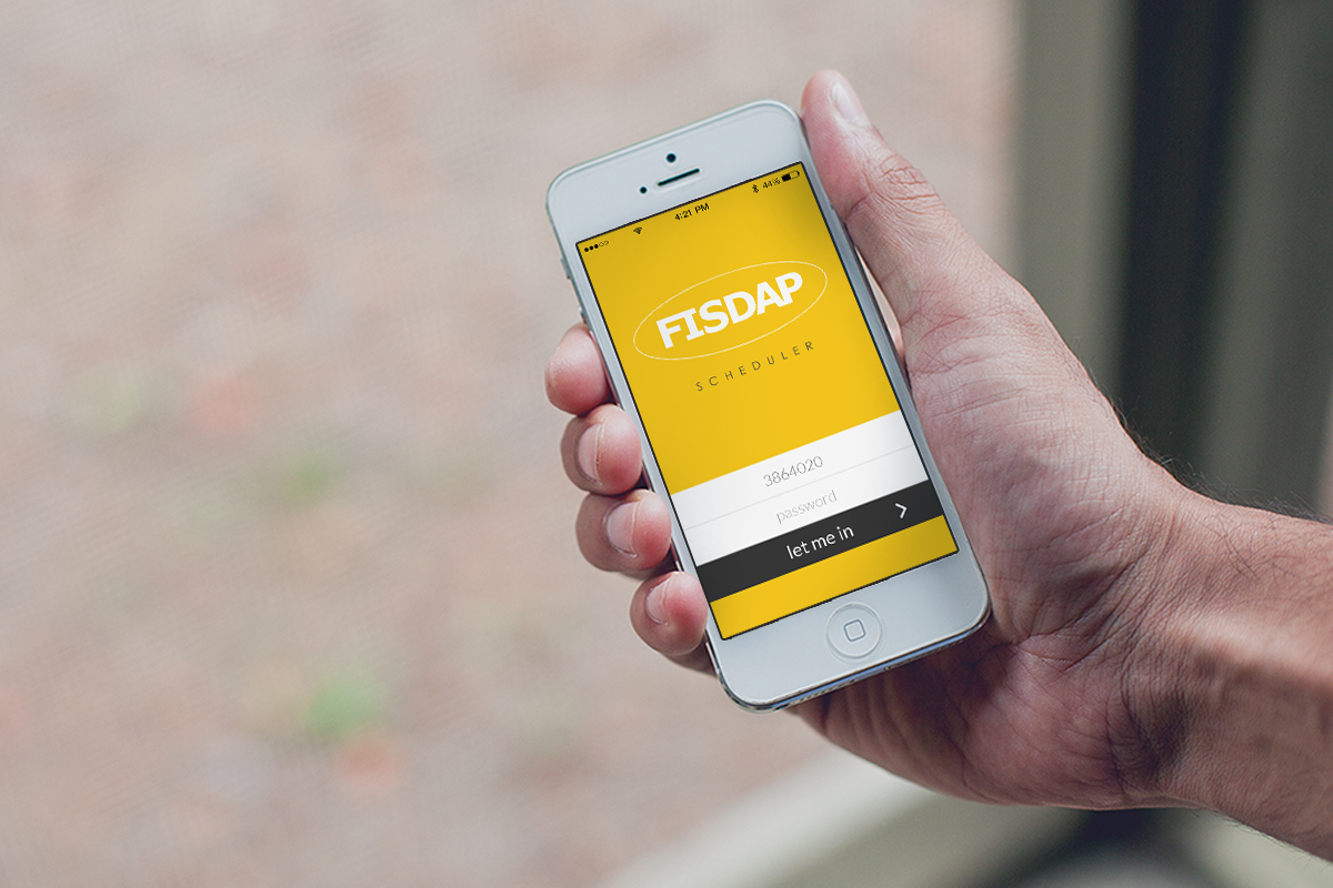 photo of a hand holding an iphone and using the FISDAP app
