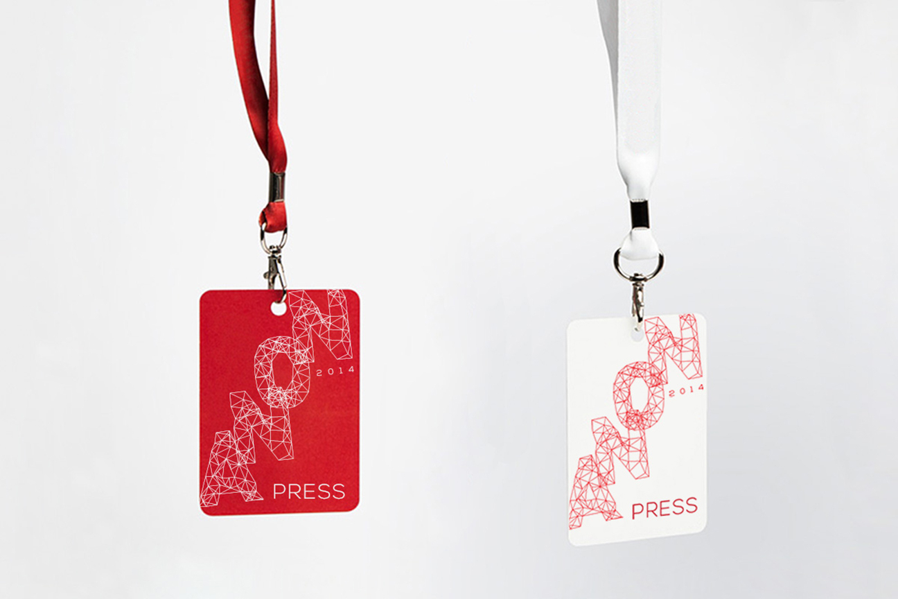Photo of press pass tag