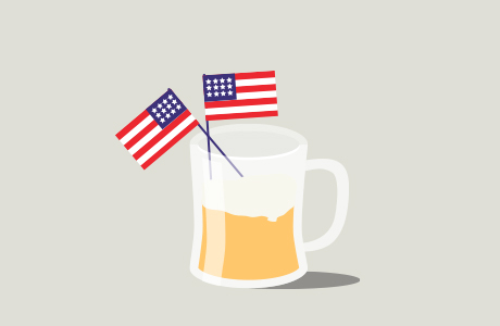 Cheers to freedom!
